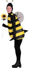 Bumble Bee Adult Women's Costume Striped Yellow & Black Halloween Fancy Dress