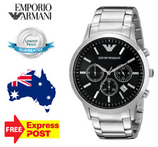 Emporio Armani AR2434 Stainless Steel Chronograph Men's Dial Watch