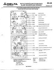 Delta Rockwell BS-4B blade Welder Instructions