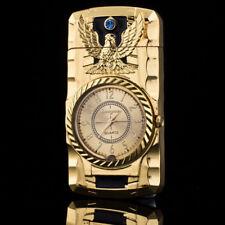 Multifunctional Gold Eagle Quartz Watch Cool Cigarette Lighter Windproof For Men