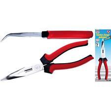 200 mm Storchenschnabel-Zange gebogen mit 2K-Kunststoffgriff SOLIDO Spitz-Zange