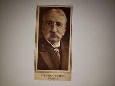 Stephen Pichon France 1918 MW Pictorial Profile Panel