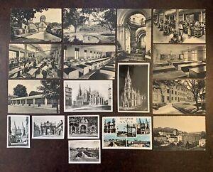 Bulk Lot Of 17 Vintage Postcards From Nancy France 1950s