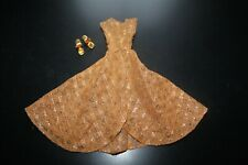 vintage barbie doll clothes 1960's #946 Dinner at Eight with Gold Metalic Wedges