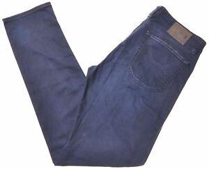 JECKERSON Mens Jeans W34 L34 Navy Blue Cotton Slim Fit CV06