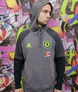 CHELSEA London Football Soccer Longsleeve Hoodie Jacket Adidas 2016 Mens Size L