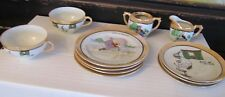 Vintage tea set cups plates creamer Nursery Mother goose Cat and the Fiddle