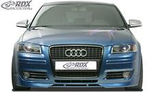 RDX SPOILER Anteriore Audi a3 8p SPORT BACK & Facelift FRONT labbro anteriore approccio ABS
