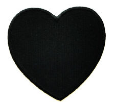Cute Pretty Black Heart Love Embroidered Iron on Patch Free Shipping
