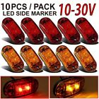 5x Amber 5x Red Led Car Truck Trailer Rv Oval 2.5 Side Clearance Marker Lights