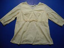 In Due Time Maternity Solid Yellow 3/4 Sleeve Blouse Top Size Medium M