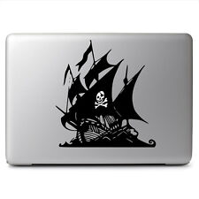 Glowing Skull Pirate Ship for Macbook Laptop Car Window Auto Vinyl Decal Sticker