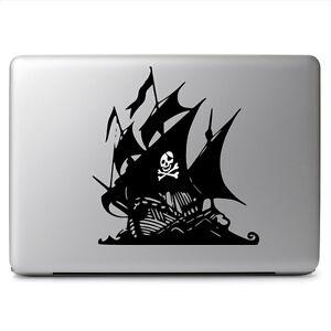 Glowing Skull Pirate Ship for Macbook Laptop Car Window Auto Vinyl Decal Sticker