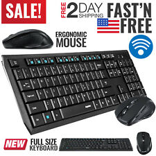 Wireless Bluetooth Keyboard and Mouse Combo Computer Desktop PC Laptop Cordless