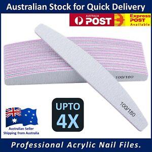 Acrylic Nail Files - Harbour Bridge 100/180 Grit Professional Manicure Pedicure