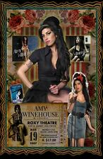 "Amy Winehouse-11x17""collage poster - vivid colors/deep blacks - signed by artist"