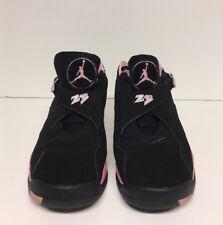 Air Jordan 8 Retro Low GS Size 6Y Black Real Pink White