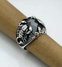 AAA QUALITY 925 STERLING SILVER MENS JEWELRY BLACK ONYX SCORPION MENS RING