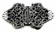 Celtic Belt Buckle Floral Rose Theme Knot Black & White Authentic Dragon Designs