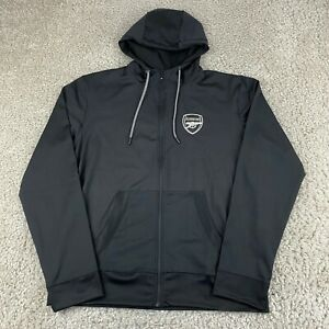 ARSENAL Mens Tricot Hoodie Sweater Extra Large Black Full Zip