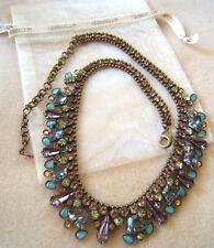 NEW Sorrelli Multi Green Blue Lavender Pink Crystal Rhinestone  Necklace Pouch