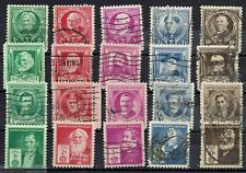 US Postage Stamps  #859  -  #893  FAMOUS AMERICANS   Set of 35    1940