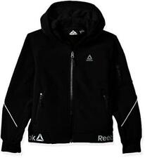 New Nwt $90 Reebok Boys Big Active Logo Fashion Bomber Hem Jacket