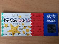 Orig.Ticket  FIFA-WM  USA 1994     SÜDKOREA - DEUTSCHLAND  //  Spiel 28