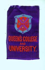 "1900s S25? Egyptienne College 3"" x 1 3/4"" tobacco silk - Queen's College & U."