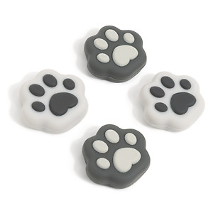 GeekShare 4Pcs Silicone Cat Paw Meat Pad Thumb Grip Set for Switch and Lite