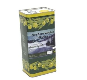 5 Litri Olio Extravergine di Oliva EVO Extra Vergine 2020 Pregiato Alta Qualità