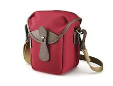 Billingham 72 Compact Camera Pouch (Burgundy Canvas/Chocolate Leather)