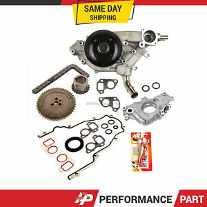 Timing Chain Kit Cover Gasket Water Oil Pump for 97-04 GMC Cadillac 4.8 5.3 6.0