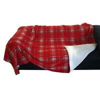 Soft Fleece Highland Tartan Check Plaid Throw Blanket Bedspread 150 x 200cm