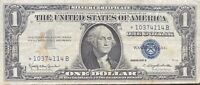 USA 1 Dollar 1957 B Silver Certificate One Banknote STAR NOTE Schein #22009