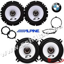 Alpine 4 speakers kit for BMW serie 3 e46 1998-2006 box + spacer rings adapters