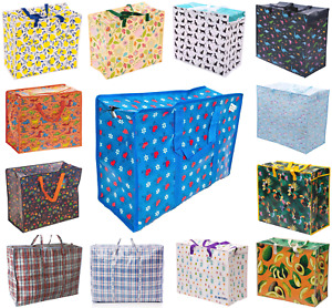 Strong Reusable Shopping Laundry Storage Moving Bag Big Zipped SMALL laundry
