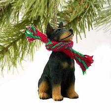 Conversation Concepts Doberman Pinscher Miniature Dog Ornament - Black & Tan