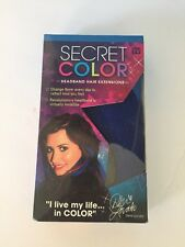 Secret Color  Headband Hair Extensions  by Demi Lovato New As Seen On TV -  BLUE