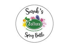 Personalised Zoflora Spray Bottle Sticker 88mm Your Name e.g. Mrs Hinch
