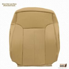 2011 2012 Ford F250 Lariat Front Driver Lean Back Cover Perforated Leather TAN