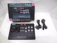 FIGHTING STICK MULTI -- Boxed. Super famicom, Mega Drive, PC Engine. Japan 14304