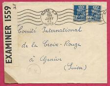 Algérie-Enveloppe d'Alger pour la Suisse-1943
