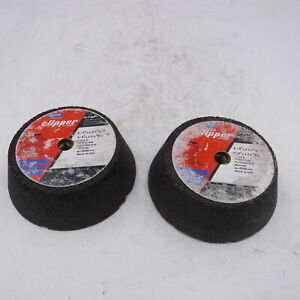 "2 Pack Norton Clipper Classic 6"" x 4-3/4"" x 2"" x 5/8-11 Concrete Cup 7018460916"