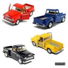 4 PC SET Kinsmart 1955 Chevy Stepside Pick up truck 1:32 diecast car chevrolet