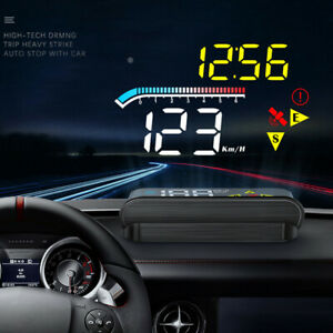 Car HUD Digital Speedometer Projector Head Up Display OBD2 GPS Overspeed Alarm