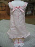 American Girl Doll SAMANTHA'S PINK NIGHTGOWN Slippers BeFOREVER NEW IN BOX