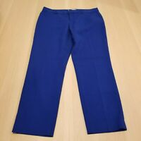 GAP WOMEN'S BLUE COLOR SLIM CROPPED PANTS CAREER CASUAL SIZE 4 STRETCH
