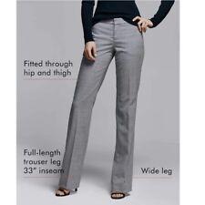 Banana Republic Logan Xs 2 Black White Micro check Trouser Pants EUC