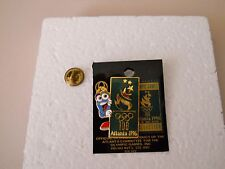 Vintage 1996 Atlanta Olympic Games Izzy peeking around the Gold Stylized Flame